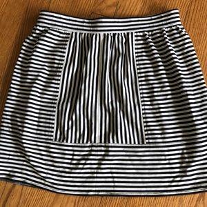 A J Crew contrasting stripes skirt. 😎